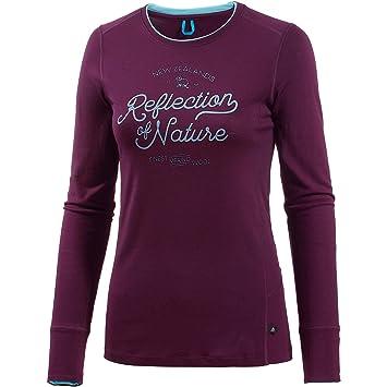 Odlo Shirt l/s Crew Neck Natural 100% Merino Ropa Interior, Mujer,