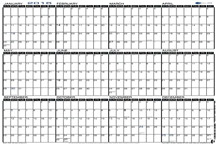 amazon com 24 x 36 large wet erase yearly 2016 wall calendar