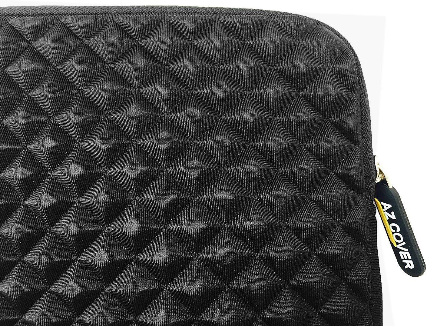 Black AZ-Cover 12.1-Inch Simplicity Stylish Diamond Foam Shock-Resistant Neoprene Sleeve For HP EliteBook 2540p Notebook PC Intel Core i5-M540