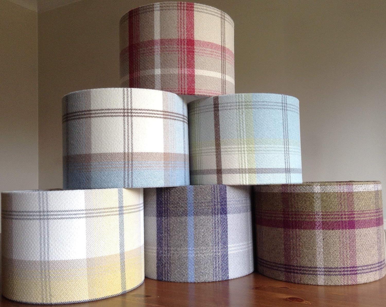 Handmade Balmoral Tartan Tweed Lampshade   Table Floor Ceiling light-shades   Living Room, Dining Room, Bedroom   Farmhouse Decor