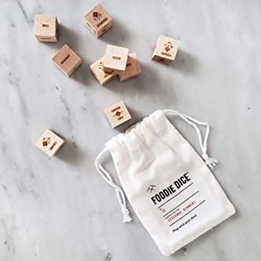 Foodie Dice® No. 1 Seasonal Dinners (pouch) // Gift for foodies, hostess, cooking gift, or stocking stuffer