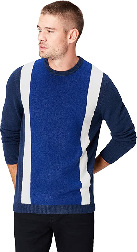 Mens Vintage Shirts – Casual, Dress, T-shirts, Polos Amazon Brand - find. Mens Cotton Colour Block Jumper  AT vintagedancer.com