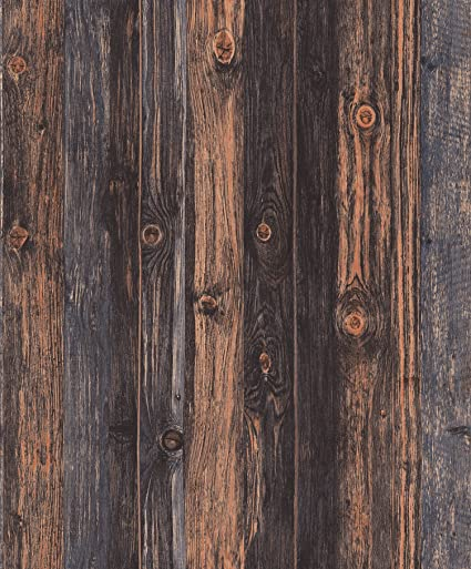 Blooming Wall Faux Vintage Barnwood Wood Wallpaper Rolls Panel Murals For Home Decorations