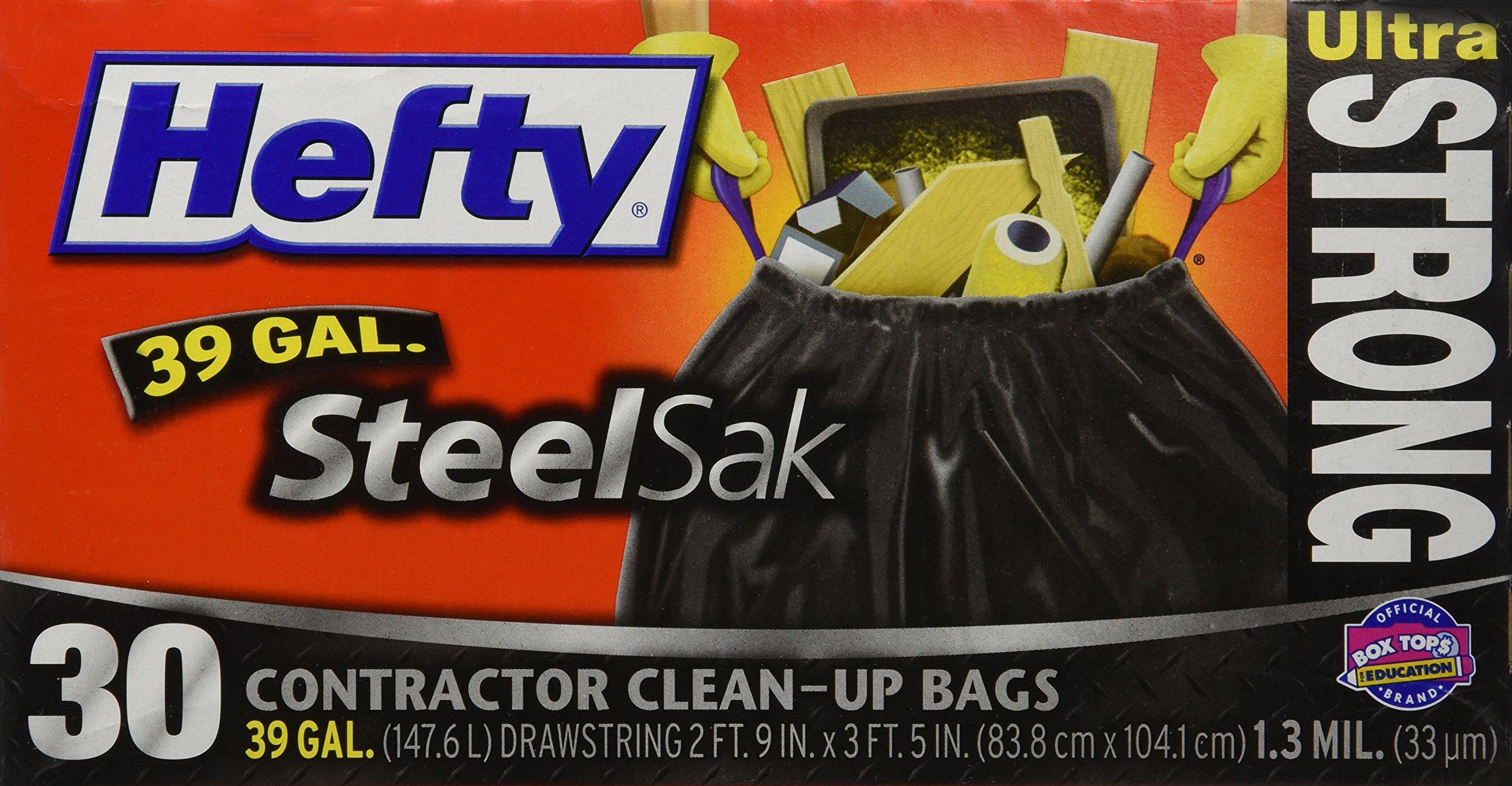 Hefty Trash Bag 39 Gal. 1.3mil Plastic Black - 30 ct. by Hefty