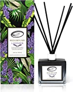 Air Jungles Lavender Scent Reed Diffuser Set with Sticks, Essential Incense