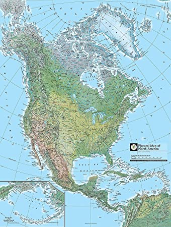 Map Of North America Wallpaper Wall Mural   Self Adhesive   Multiple Sizes    National