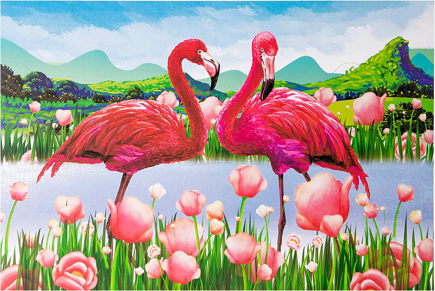1000PCS Flamingo Jigsaw Puzzle Adults Kids, Large Intellectual Educational Game, Art Project for Home Wall Decor