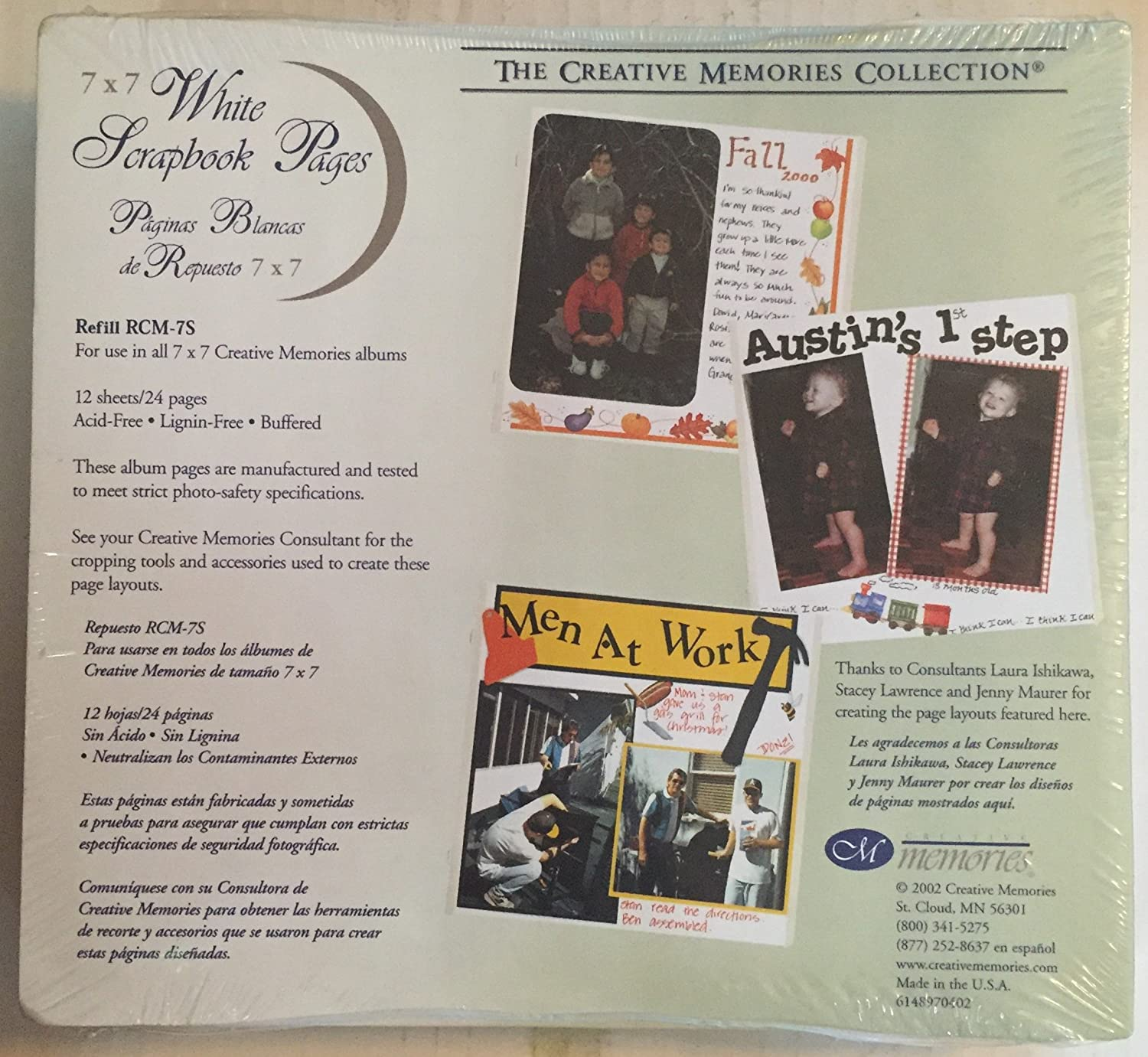 The creative memories 7 x 7 scrapbook pages