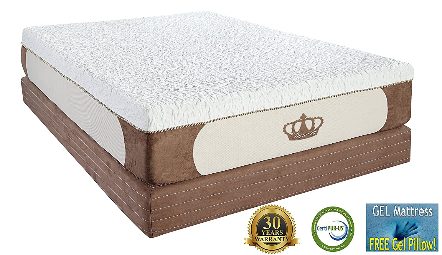 DynastyMattress New Cool Breeze 12-Inch Gel Memory Foam Mattress Review