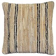 Matador Leather Chindi Pillow, 18-Inch, Tan/Black