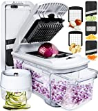 Fullstar Mandoline Slicer Spiralizer Vegetable Slicer - Vegetable Chopper Onion Chopper Food Chopper Vegetable…