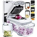 Fullstar Mandoline Slicer Spiralizer Vegetable Slicer - Vegetable Chopper Onion Chopper Food Chopper Vegetable Spiralizer Man
