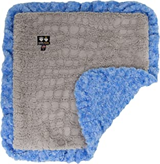 product image for Bessie and Barnie Serenity Grey/ Blue Sky Luxury Ultra Plush Faux Fur Pet, Dog, Cat, Puppy Super Soft Reversible Blanket (Multiple Sizes)