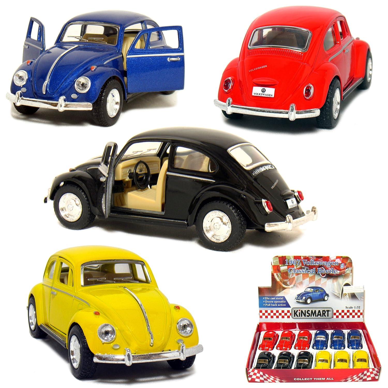 【税込】 12 by pcs in 1967 Box: 5 1967 VW 12 Classic Beetle 1:32 Scale (Black/Blue/Red/Yellow) by Kinsmart B004WLOPOU, kiyokamorimoto 日見フランソア:48f9eac1 --- a0267596.xsph.ru