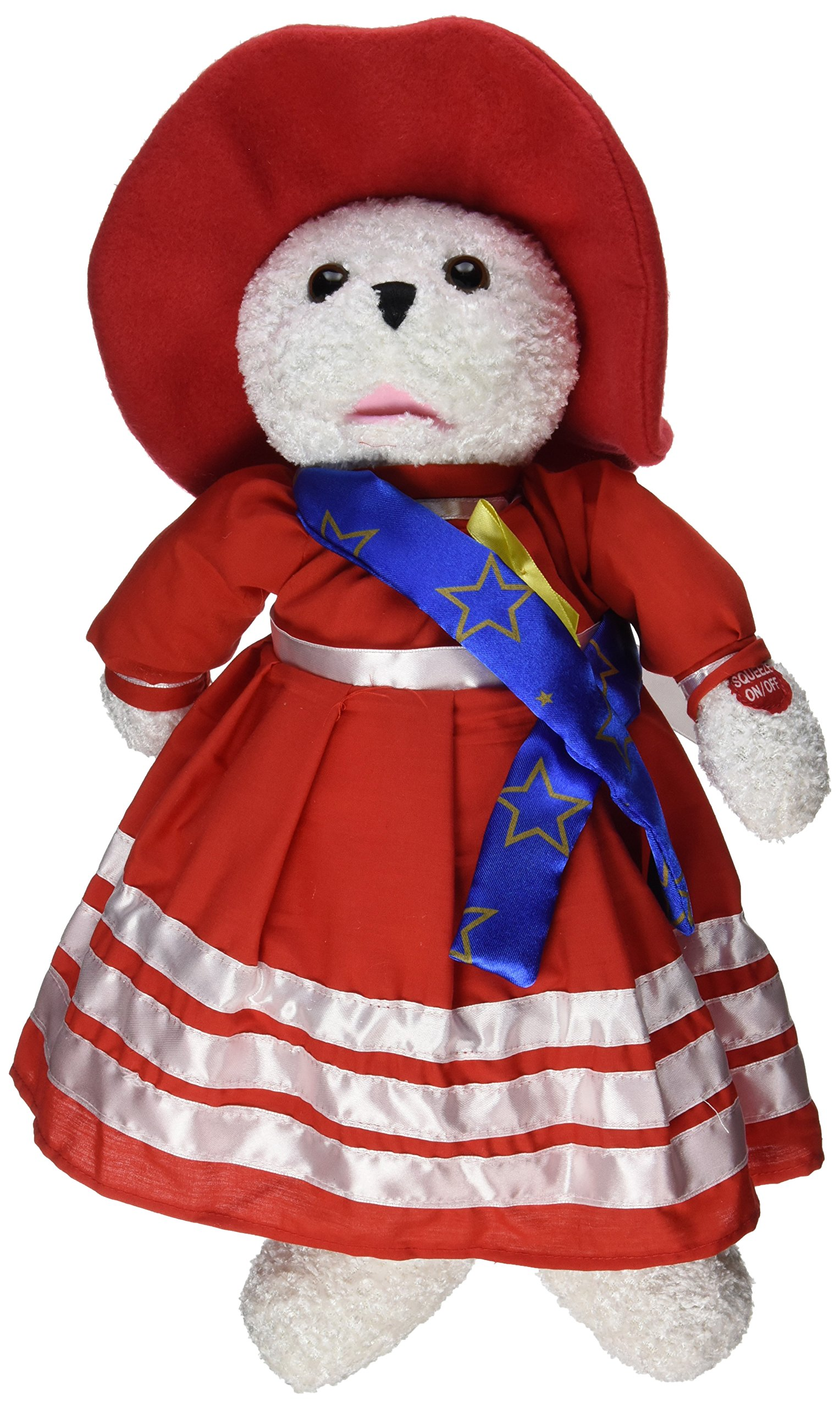 Chantilly Lane 19'' Betsy Patriotic Bear Plush Singing - God Bless America by Chantilly Lane