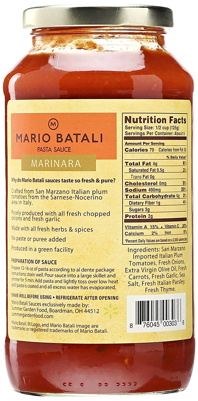 Mario Batali Marinara Pasta Sauce 24 Oz Amazon Co Uk Business Industry Science