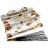 STAMFORD INC. 37112 Frankincense and Myrrh Incense Sticks, 20 Sticks x 6 Packs