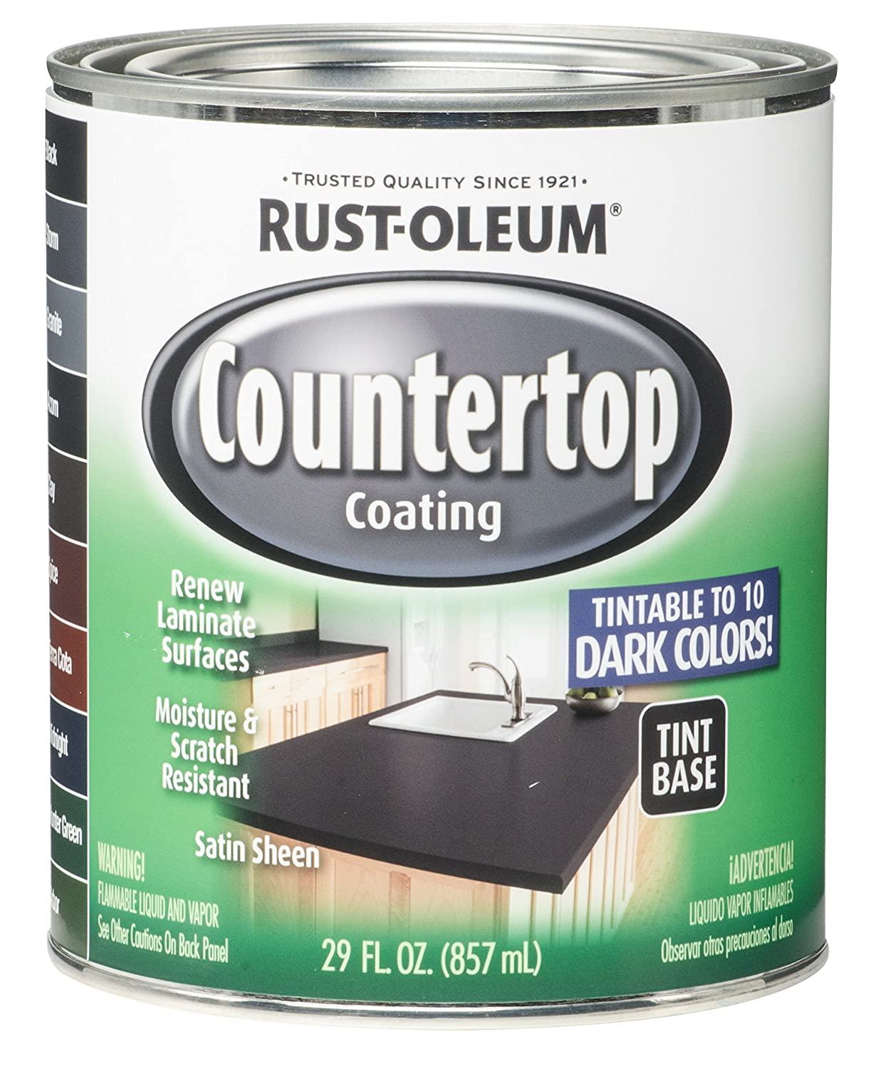 RUST-OLEUM 254853 Quart Interior Countertop Coating - Rustoleum Dark ...