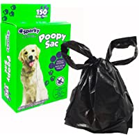 Sparky Dog Poop Bags - Large Bags with Handles, Vanilla Scented, Textured Surface for Easy Handling (150, Bags)