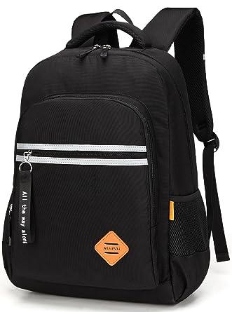 0ace96f07b1f ArcEnCiel School Backpack Casual Daypack Travel Outdoor Backpacks for Boys  (Black)
