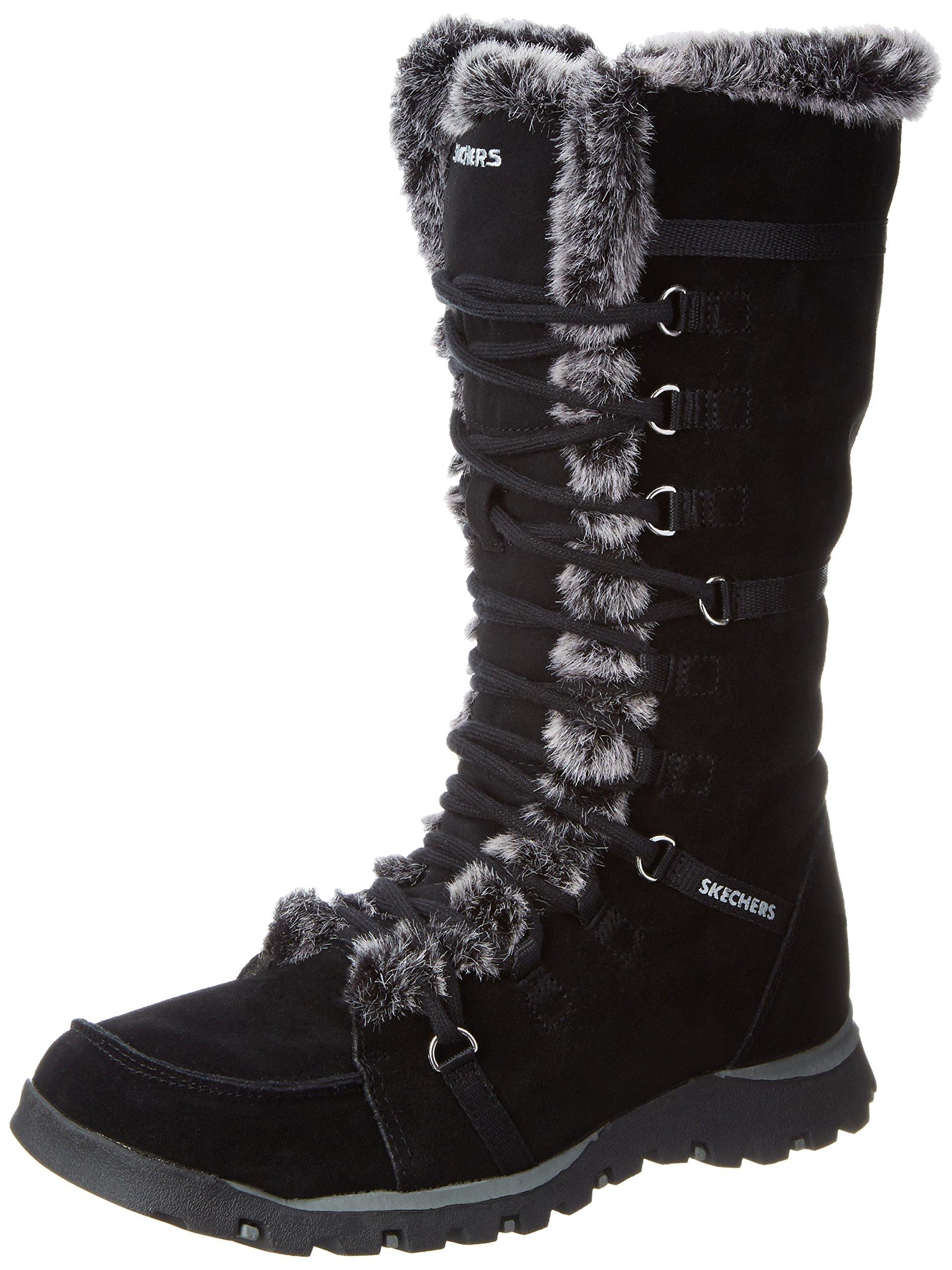 Skechers Women's Grand Jams Unlimited Boot,Black,8.5 M