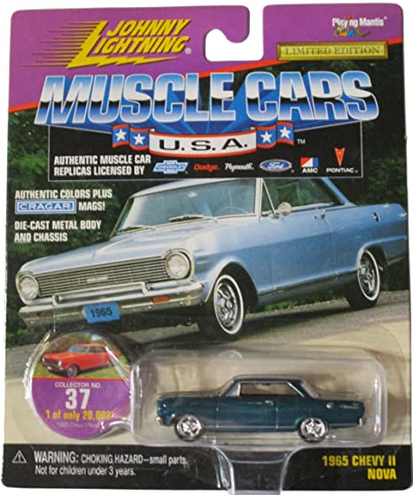 Amazon Com Johnny Lightning Muscle Cars Usa Green 1965 Chevy Ii