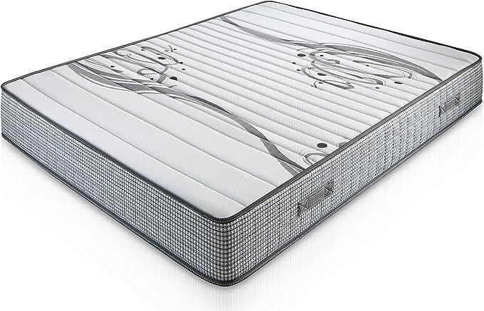 Matelas Boston 140X190 à mémoire de forme 22 cm Épaisseur + 1,5 cm de mousse à mémoire de forme de 65 kg/m3 + Indépendance de couchage + Soutien: ferme + Extrêmement durable + Certifié Oeko-tex®