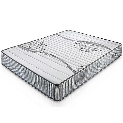 Matelas Boston 140X190 à mémoire de forme 22 cm Épaisseur + 1,5 cm de mousse à mémoire de forme de 65 kg/m3 + Indépendance de couchage + Soutien: ferme + Extrêmement durable.