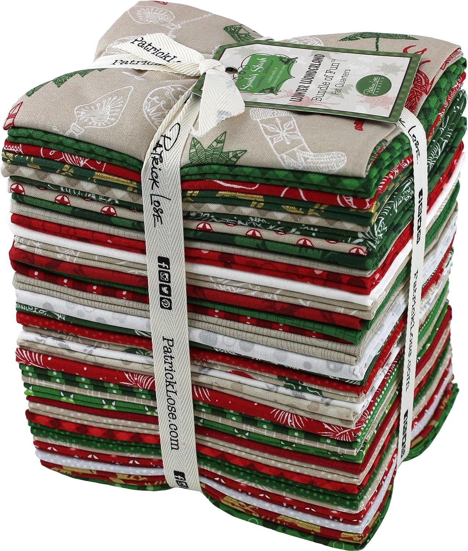 Seasonal Celebrations Santas Stash Winter Wonderland 35 Fat Quarters Patrick Lose Fabrics