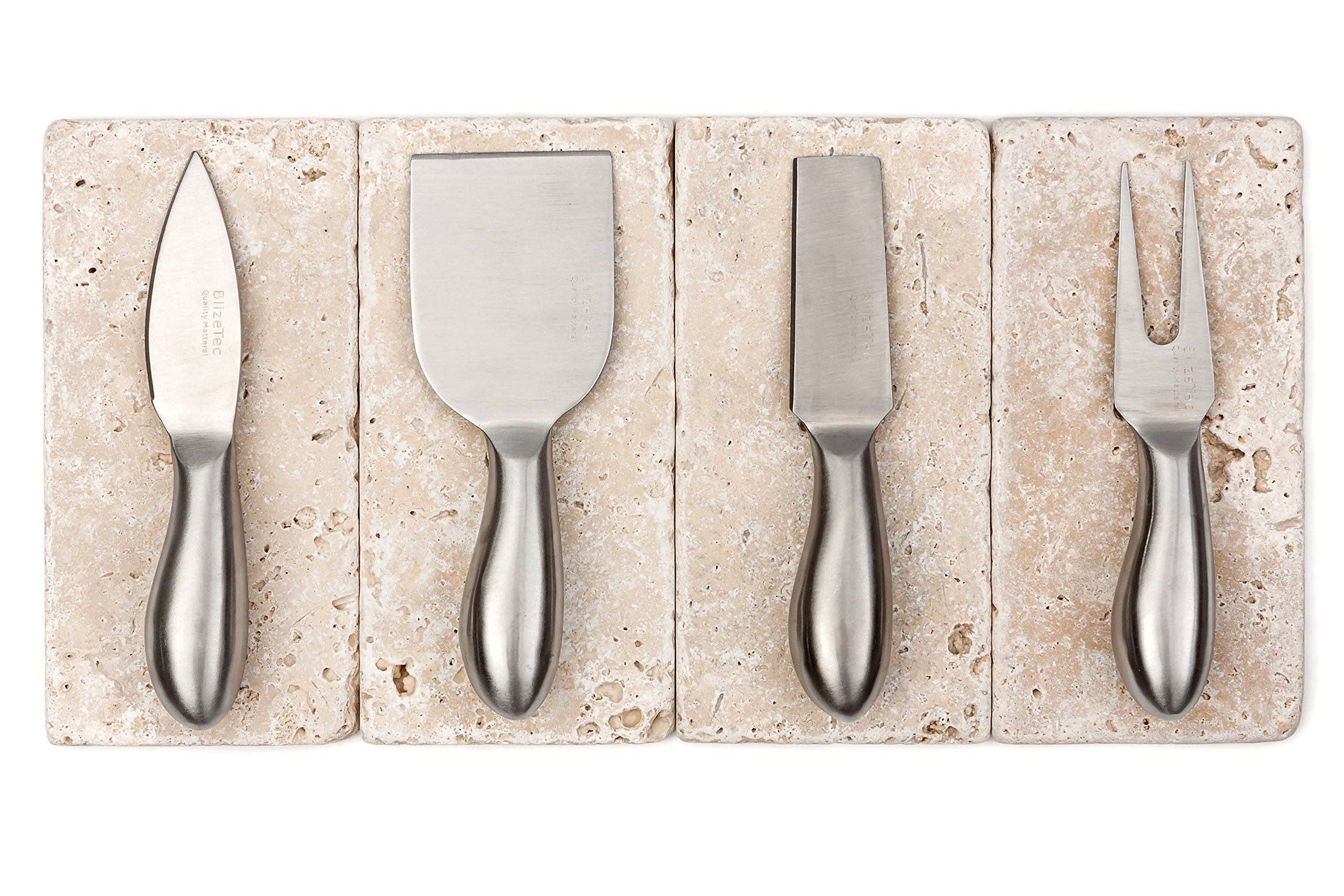 Cheese Knives: BlizeTec Cheese Slicer & Cutter Set (4 pcs) by BlizeTec (Image #4)