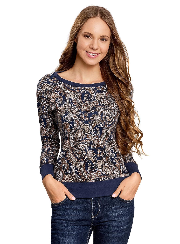 oodji Ultra Femme Sweat-Shirt Imprimé Coupe Droite RIFICZECH s.r.o. 14807011-1