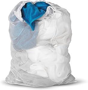 Honey-Can-Do LBG-01142 Mesh Laundry Bag, White