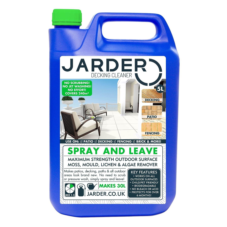 Jarder Decking Cleaner 5 Litre Concentrate - Green Slime Moss Mould & Algae Killer - Patio Fencing