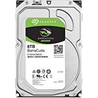 SEAGATE BarraCuda 8TB 正規代理店 3.5英寸 HDD內置硬盤 SATA 6Gb/s 64GB 5400rpm 面向臺式電腦