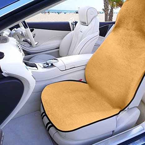 FH Group FH1006 Multifunctional Beach Fitness Towel Car Seat Cover Beige Color Fit