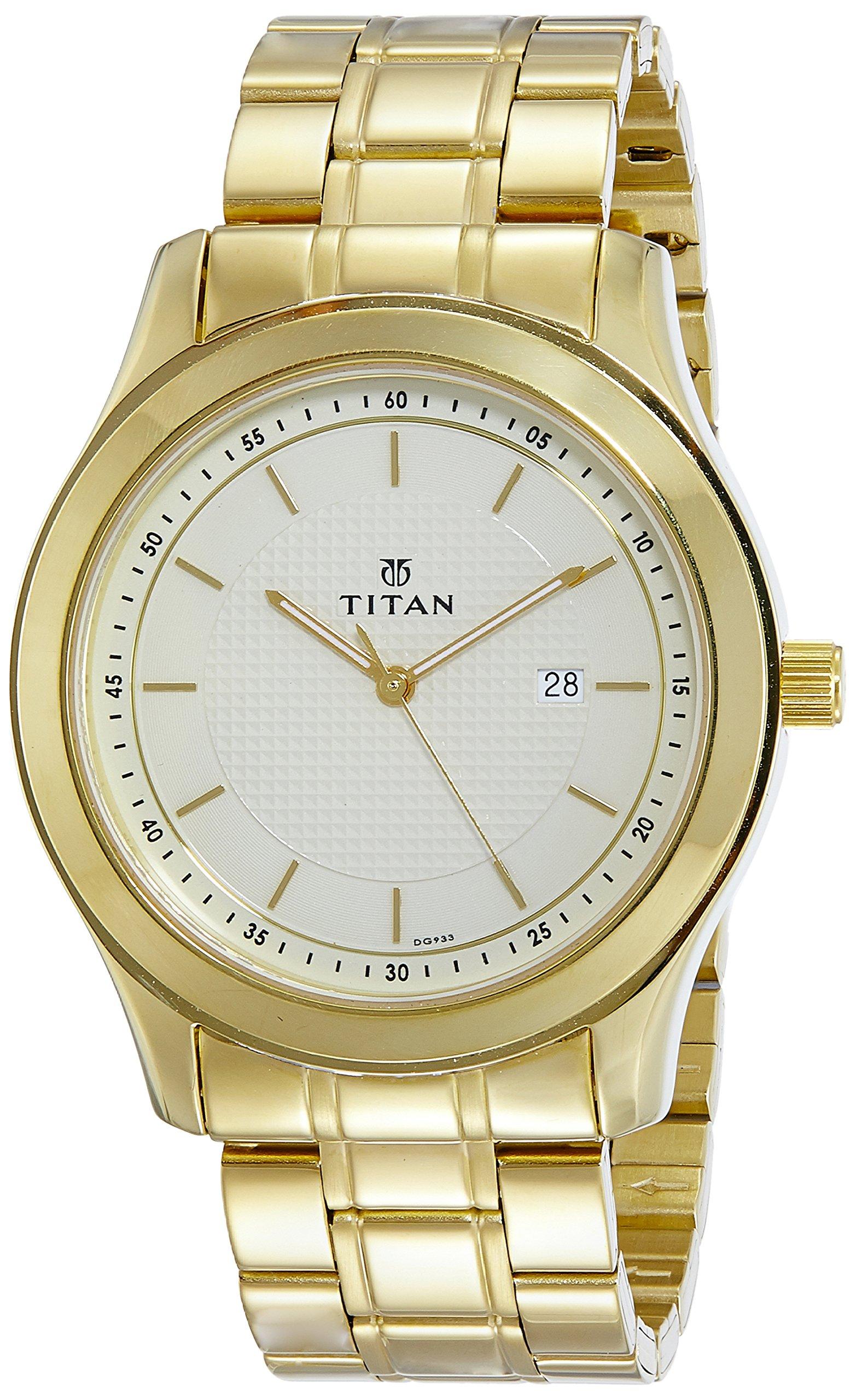 Titan Regalia Baron Analog Champagne Dial Men's Watch-1627YM04 (B077YDPBN4) Amazon Price History, Amazon Price Tracker