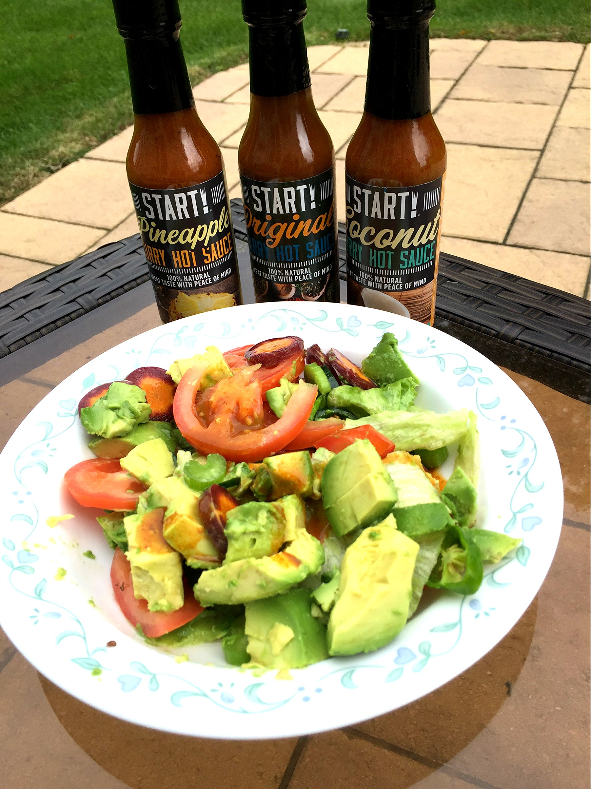 START! Curry Hot Sauce - Variety Sampler Party Pack - Original, Coconut, and Pineapple Flavors - Vegan + Gluten Free - Everyday Gourmet Light Spice (12 pack) by Start (Image #5)