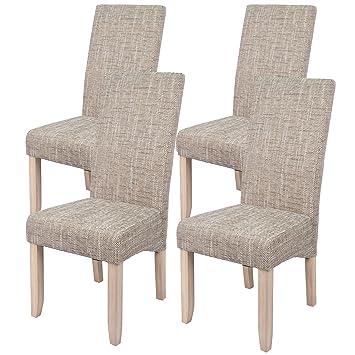 Abitti Pack 4 sillas para Comedor o Salon tapizadas en Color Arena y ...