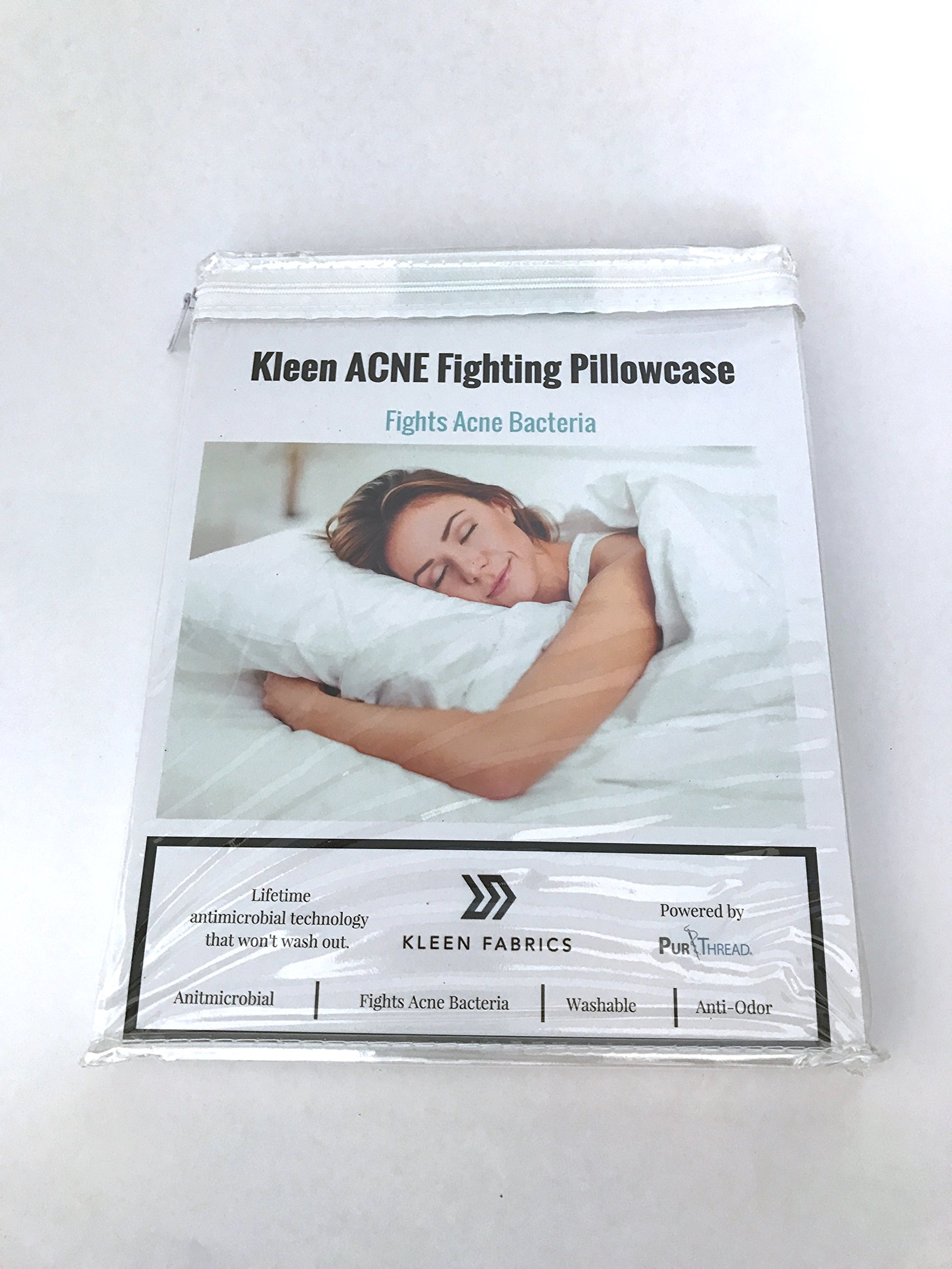Kleen Fabrics Acne Fighting Antimicrobial Pillowcase with PurThread Silver Technology