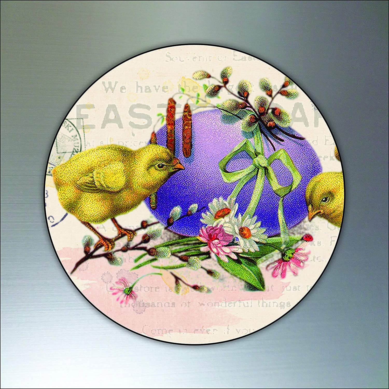 Easter Victorian Vintage Round Flexible Decorative fridge magnets