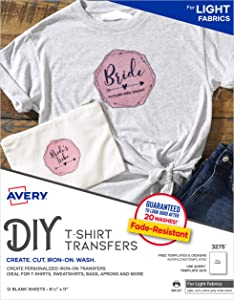 AVERY T-Shirt Transfer Sheets, Clear (03275)