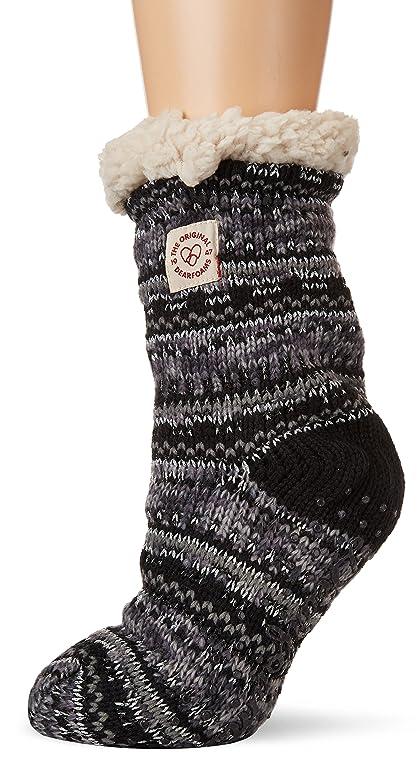 Amazon.com | Dearfoams Women's Fancy Fairisle Blizzard Sock ...