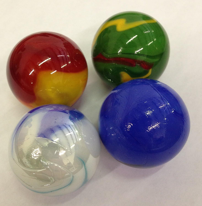 Mega Marbles SET OF 4 ASSORTED BULK 1 3 8 BOULDER MARBLES