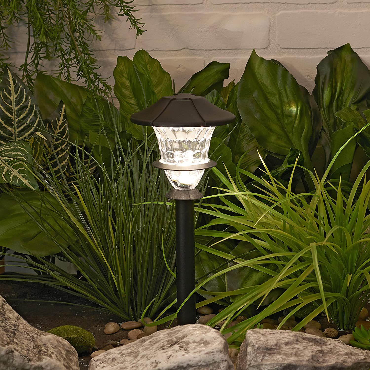 6-Pack Paradise Outdoor 10 LED 2 Watts 6 Piece 6 Lumens Sterno Home GL33966BK Low Voltage cast Aluminum 0.3W Path kit Black 120V