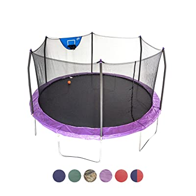 Skywalker Trampolines 15-Foot Jump N' Dunk Trampoline with Enclosure Net - Basketball Trampoline : Sports & Outdoors