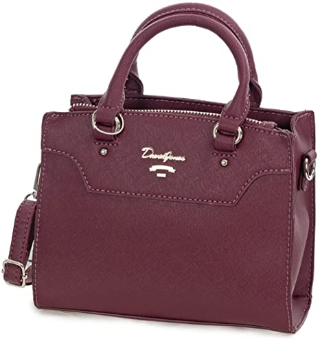 8d6105240b6a3 David Jones Handtasche Damen Bordeaux rot - Kleine Mini Tote Bag aus  Kunstleder - Frauen Shopper
