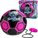 Kids Training Soccer Ball - Size 3 Youth Smart Football with Tether for Juggling, Foot Control, Kicking Practice - Adjustable Cord - Outdoor Soccer Equipment
