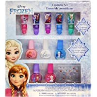 TownleyGirl Disney Themed Super Sparkly Cosmetic Set with lip Gloss, Nail Polish and Nail Stickers (Frozen)