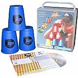 Flash Cups 1001 - Sport Stacking: FlashCups 12 Stück, mit Box+DVD, blau