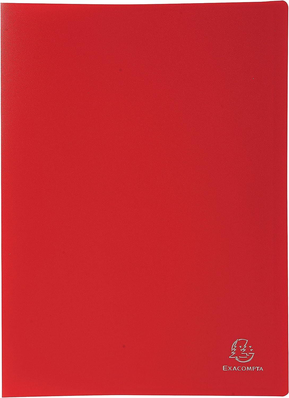 Exacompta 8535E - Carpeta de 30 fundas de PVC, A4, color rojo